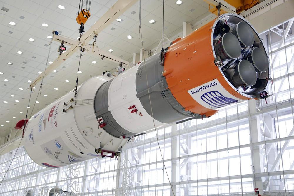Роскосмос На Байконуре завершена общая сборка РКН Союз 2 1а